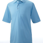 Adult Cool & Dry Elite Mini-Check Jacquard Performance Polo