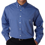 Men's Wrinkle-Free End-on-End Blend Woven Shirt