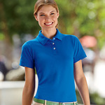 Ladies' Ring-Spun Pique Cotton Polo