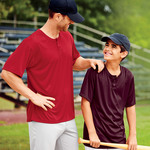 Adult B-Dry Core Henley Performance Tee