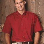 Short Sleeve Stain-Resistant Twill Shirt