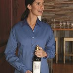 Ladies' Long Sleeve Stain Resistant Tapered Twill Shirt