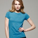 Ladies' Short Sleeve Heather Jersey T-Shirt