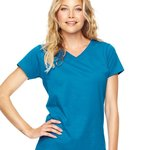 Ladies' V-Neck Fine Jersey T-Shirt