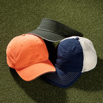 UltraClub Classic Cut Washed Brushed Cotton Twill Unconstructed Trucker Cap