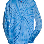 tie-dyes Adult Tie-Dyed Cotton Long-Sleeve Tee