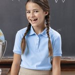 Girls' Short Sleeve Picot Polo