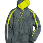 Fusion Colorblock Polyester Fleece Hooded Pullover