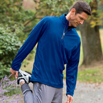 UltraClub® Men's Cool & Dry Sport 1/4-Zip Pullover