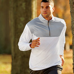 UltraClub® Adult Cool & Dry Sport Color Block 1/4-Zip Pullover